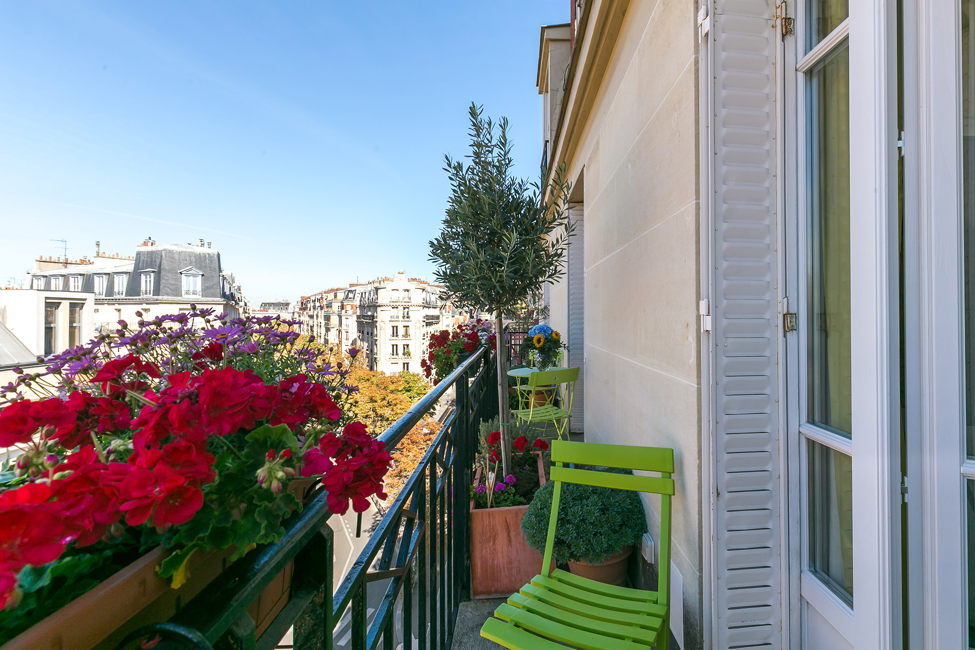 Check out this gorgeous view over the rooftops in the Vivarais vacation rental by Paris Perfect