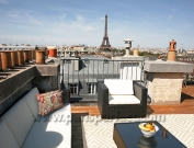 Vacation Apartment in Paris - Private Terrace & Eiffel Tower Views