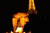 Eiffel Tower Evening Lights - Calvados Paris Apartment