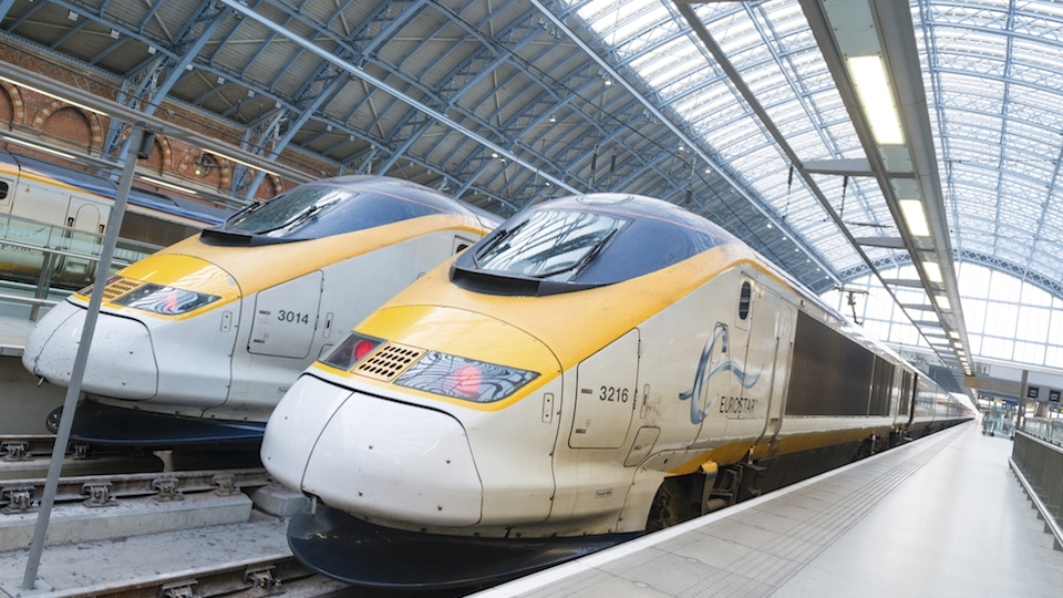 The Eurostar Train from Paris to London
